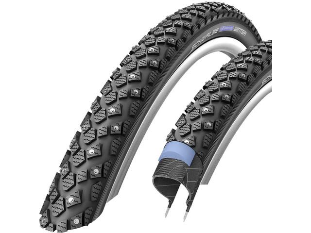 """SCHWALBE Marathon Winter Plus Wired-on Tire Reflex 28x1.35"""" black"""